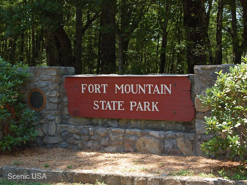 Fort Mountain State Park, A Georgia Park Located Near Chatsworth, Dalton  And Ellijay