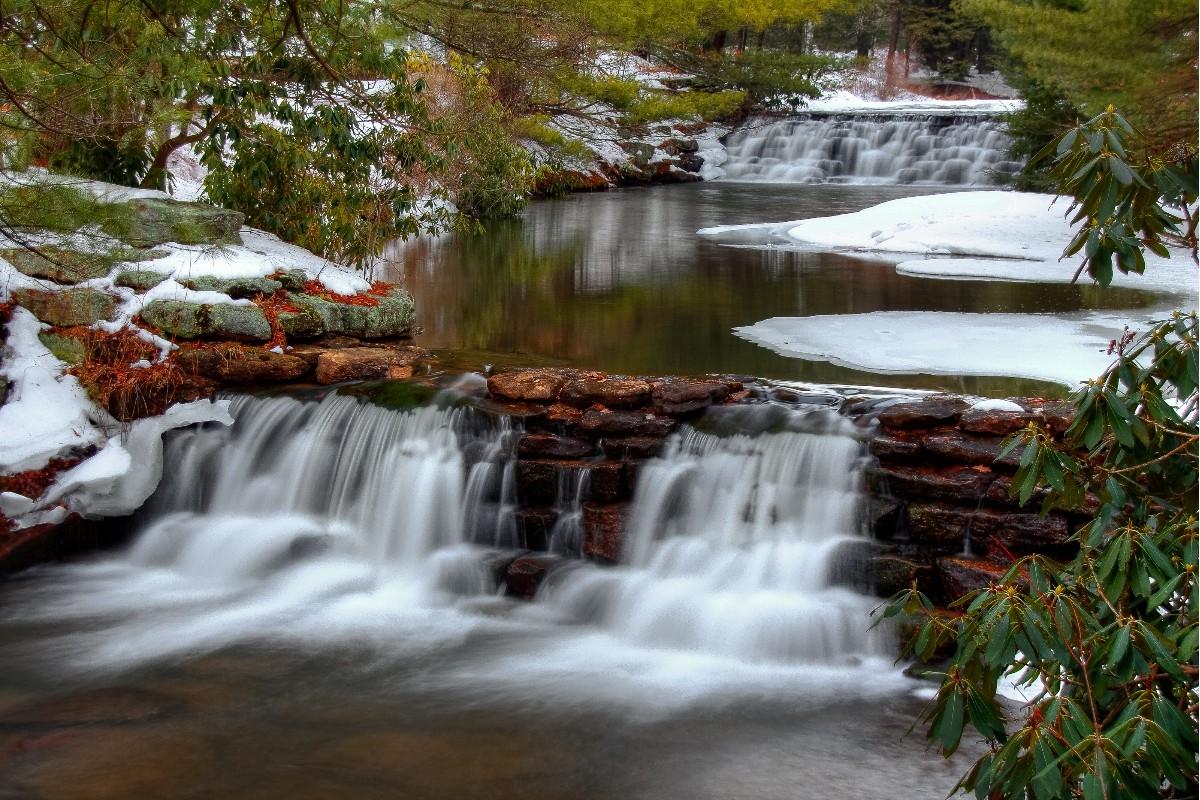 Hickory Run State Park U0027Winter Waterfallsu0027 © Dave Martin Photography