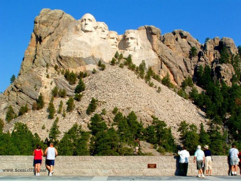 Mount Rushmore National Memorial, a South Dakota natlmem located ...