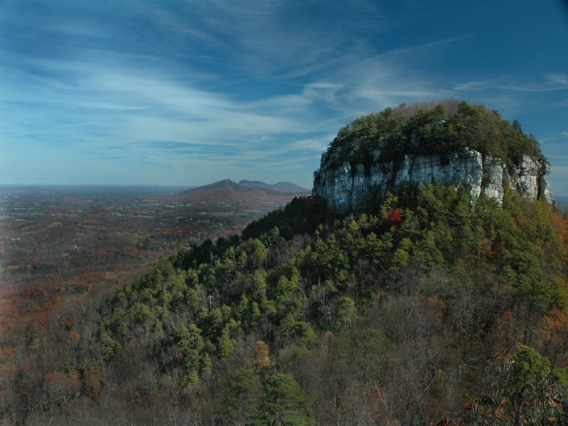 Pilot Mountain State Park, a North Carolina park located ...