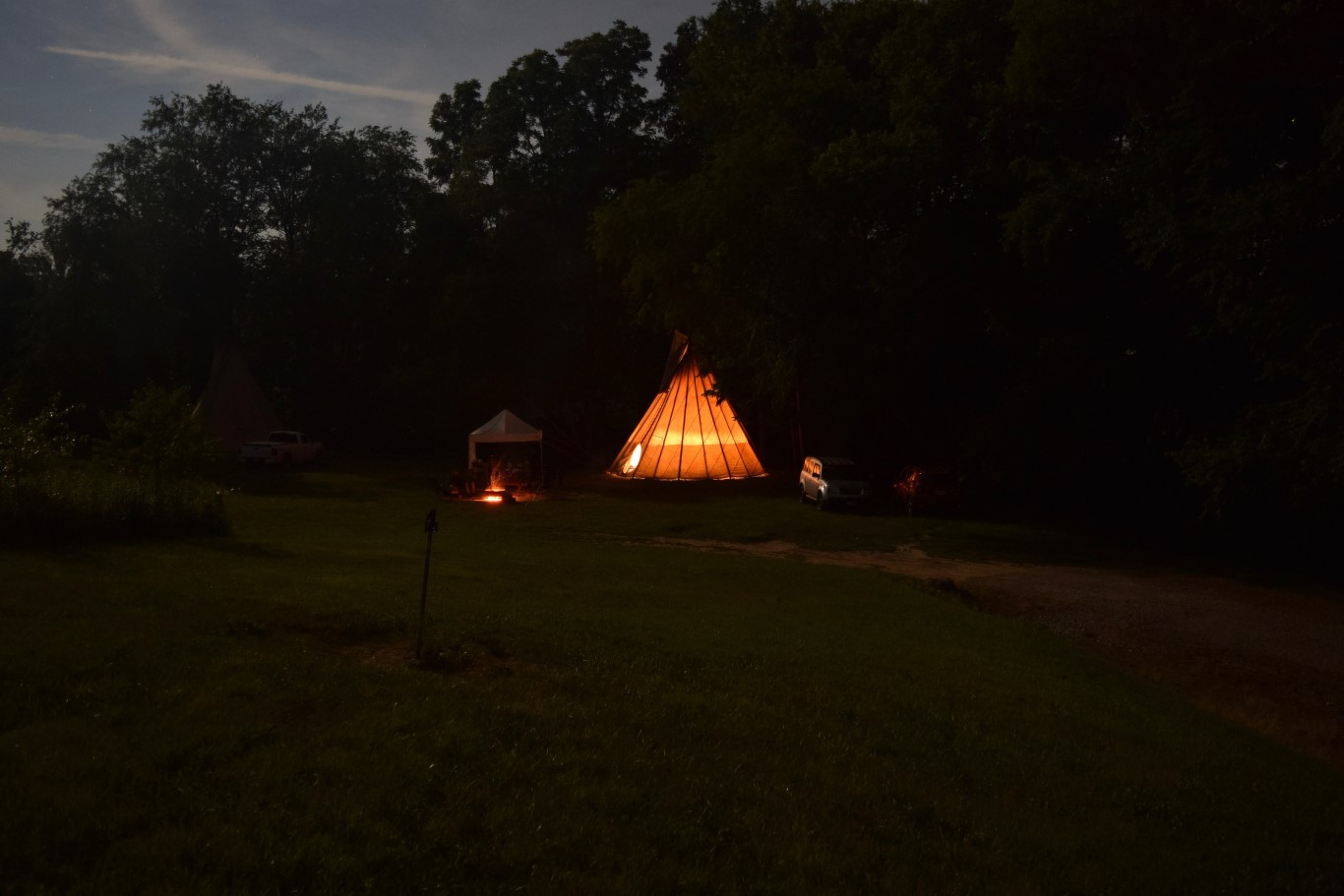 At Boulders Edge Tipi Retreat Hocking Hills Campgrounds