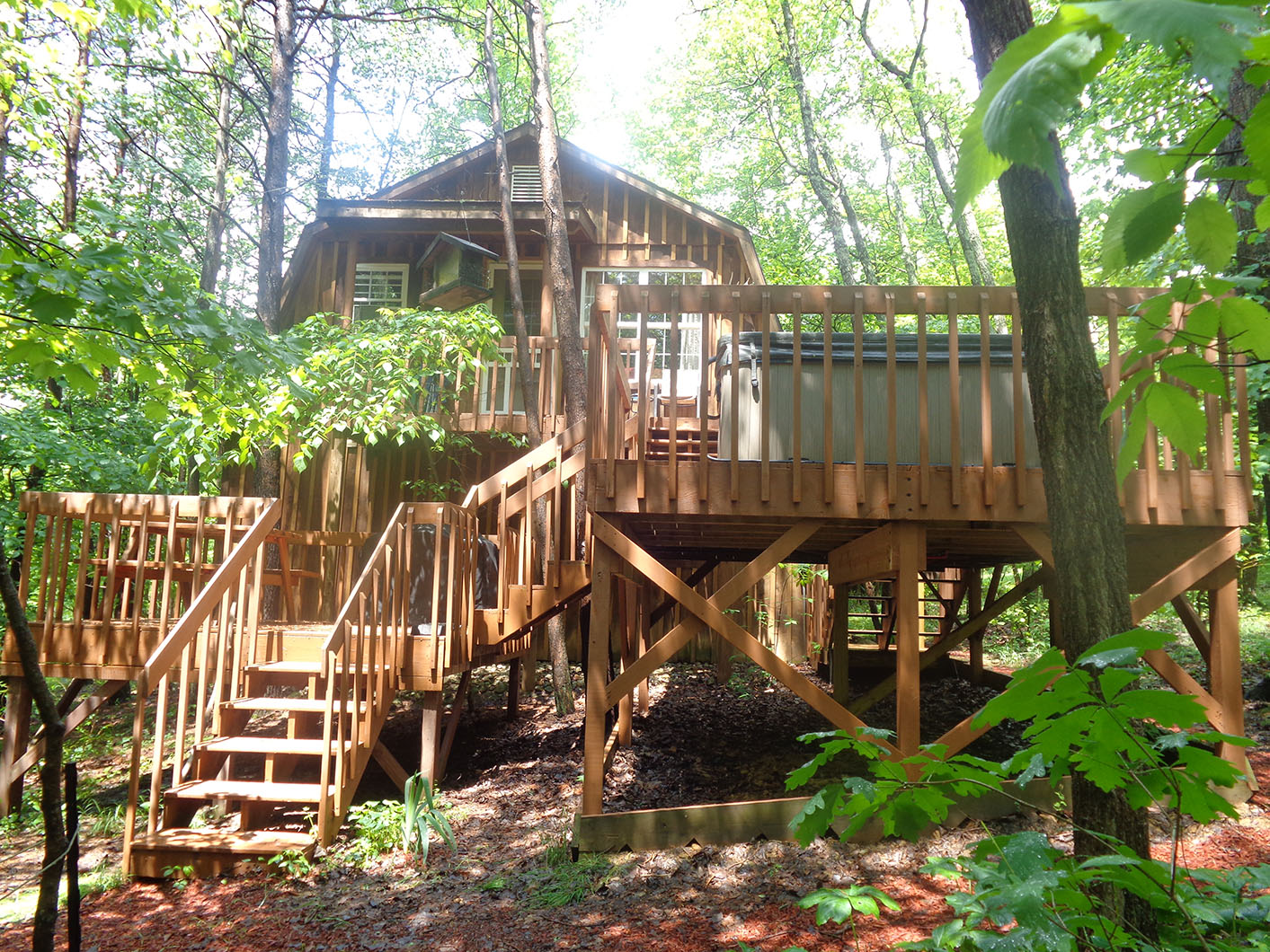 Exterior View of the Back of the Treehouse - Not handicapped accessible.