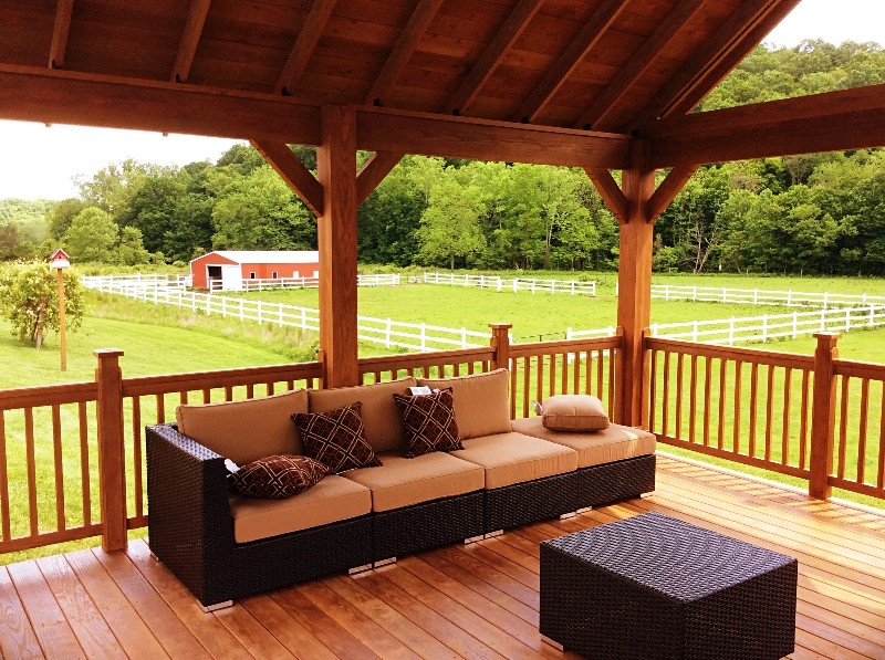 Pool Deck view - Our Beautiful Pool Pavillion has some of the fantastic views anywhere in the Hocking Hills