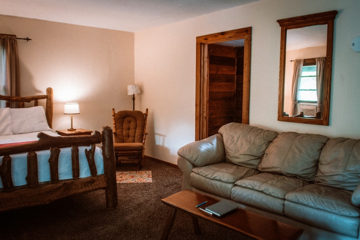 View of Great Room - Contains Bedroom and Living Room.