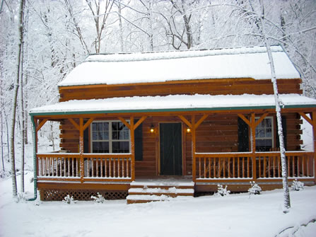 Cabin Front - Winter 3