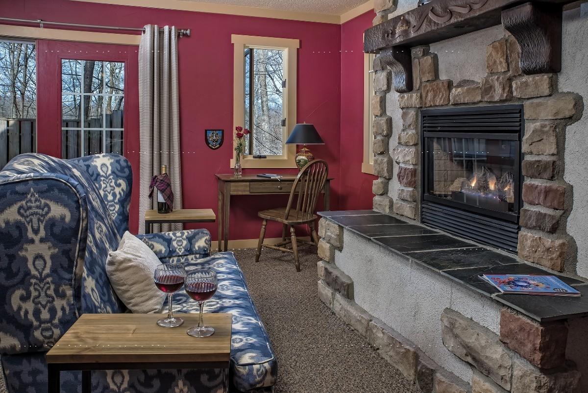 The MacBeth Croft - The MacBeth Croft sitting area with fireplace