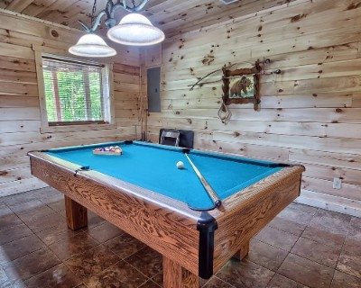Hillcrest - Finished lower level with 50 inch plasma and pool table.