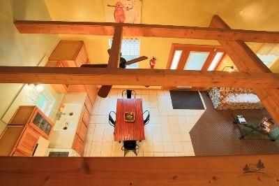 Kitchen viewed from loft