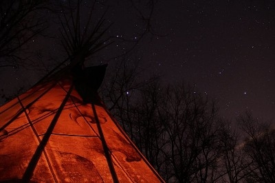 Hocking Hills Tipi Camping - Beautiful view of the nights sky near a Tipi