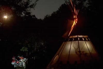 Tipi at night - So impressive and stately