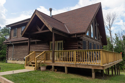 The Lodge - Our largest cabin sleeping up to 10 people.
