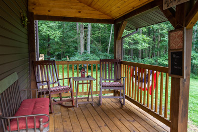 Front porch - relax on our front porch of the Homestead