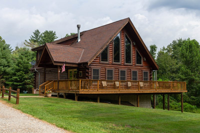 The Lodge - Our Lodge has a wrap around deck on the main level.