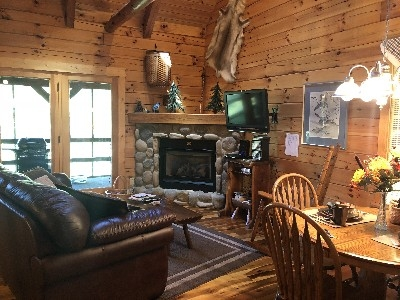 The Blue Jay Cabin - Our exquisitely decorated cabins are loaded with amenities, including a gas fireplace, TV, DVD, and gas grill on the back, screened-in deck.