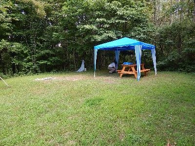 Wildfire Meadow - Beautiful primitive Tent site, includes table and fire pit.