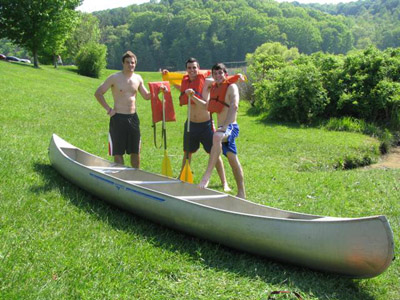 Canoeing at Strouds Run State Park - Cabin guests get a discount on boat rentals!