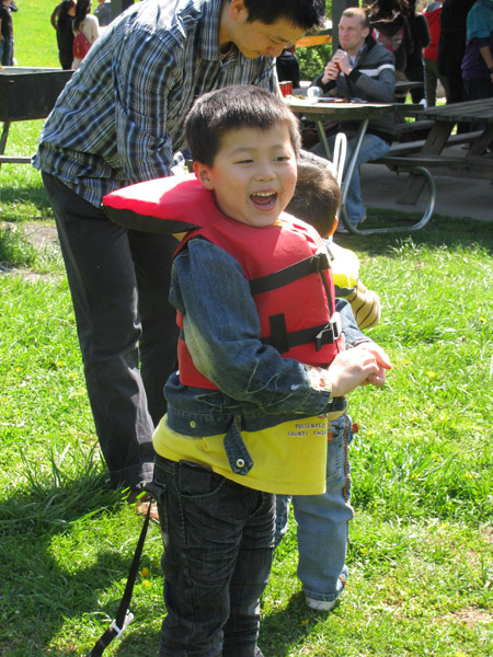 We provide life jackets for all sizes!