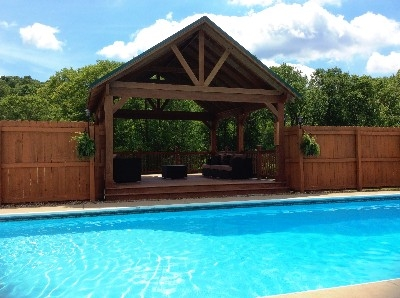 Pool deck  - Relax and enjoy the views from our pool observation platform. Yea Baby Yea