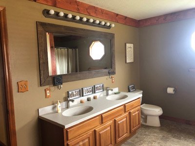 Master Bath - Whirlpool Tub, Shower His and Her vanity