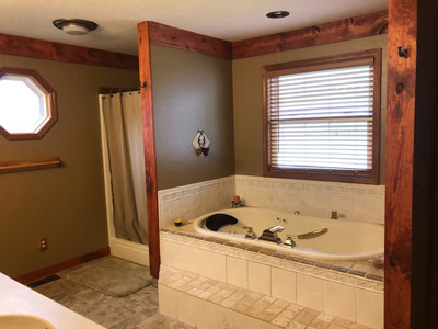 Master Bath - Whirlpool Tub, Shower and His and Her vainty
