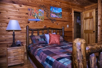 Eagle View Retreat - One of two bedrooms.  Both have queen size beds and soft sheets.