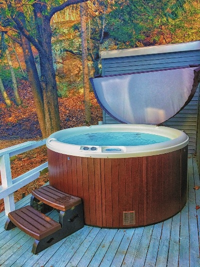 Hot Tub - This is the view you will have in the fall from the Hot tub.  Come enjoy!