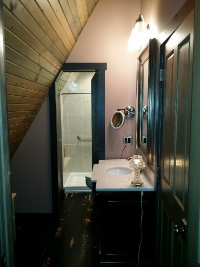Bath with walk-in Shower