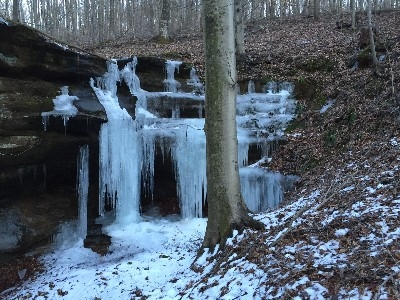 Our Frozen Waterfalls - Enjoy gorges, creeks and seasonal waterfalls on our own private 0.5 mile hiking trail