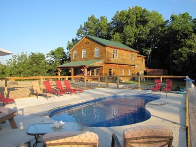Hilltop Hideaway Cabin - View from swimming pool