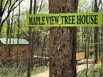 Maple View Tree House - Welcome to the first, true tree house in Hocking Hills.