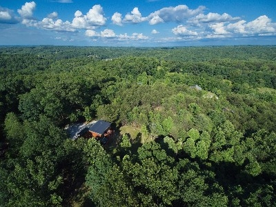 Aerial View of Treetop - Aerial view of Treetop Cabin