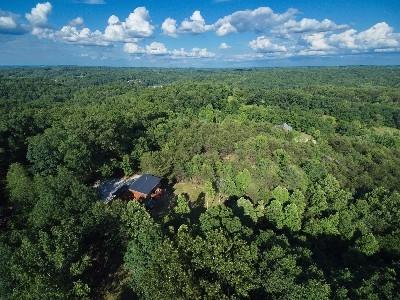 Aerial View of Treetop - Aerial view of Treetop Cabin
