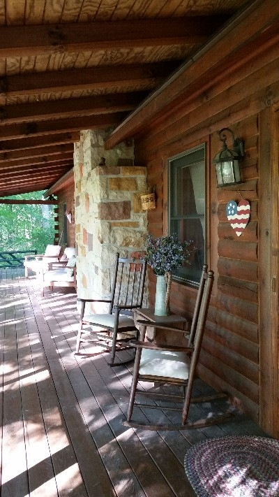 Rocking Chairs - Also on the long back porch. Yet another way to take it all in.