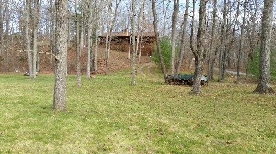 Looking from the Pond - This is an older picture before the hot tub deck was built. It