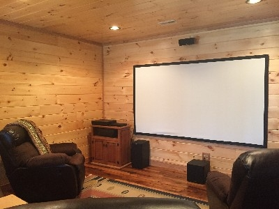 Movie/Large Screen - The cabin has a large projector screen for movie watching or bing watching your favorite shows on DVD! when you need a break from all the outdoors.
