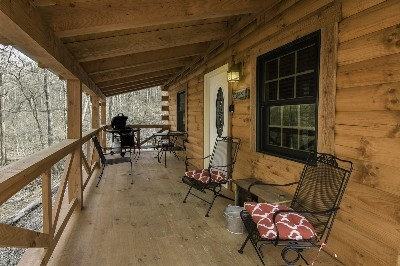Creekside Serenity front porch