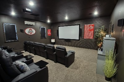 Theater Room - Massive Theater Room sure to be a crowd pleaser.