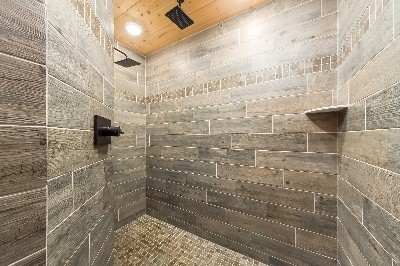 Master Bath - Double vanity and custom dual rainmaker shower heads.