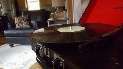Step back in time! - Enjoy listening to a vintage record.