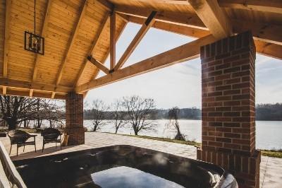Lake House Hot Tub View