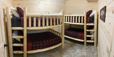 Bunk Beds - For kids or adults who willing climblol!.  The kids will love Kid Cave located right outside the bedroom door.  Who doesn