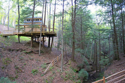 Maple Treehouse at Hocking Hills Treehouse - Enjoy amazing views from your wrap-around deck during your treehouse getaway at Hocking Hills Treehouse Cabins