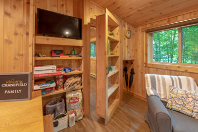 White Oak  Hocking Hills Treehouse Cabins - Kids will love the hidden door that leads to the bunk bedroom  Hocking Hills Treehouse Cabins