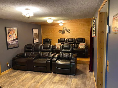 Lonesome Holler Theater Room - Luxury Theater Seating