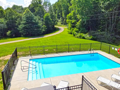 Lonesome Holler swimming pool - Swimming pool view from deck