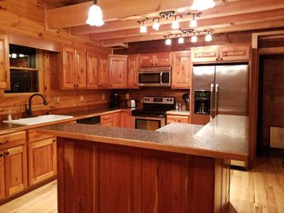 Honeysuckle Ridge Cabin Kitchen - Fully Furnished Kitchen