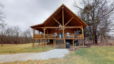 - Huge Deck overlooking acres of hilltop meadow offers gorgeous views of the Hocking Valley just 8 miles from Old Man