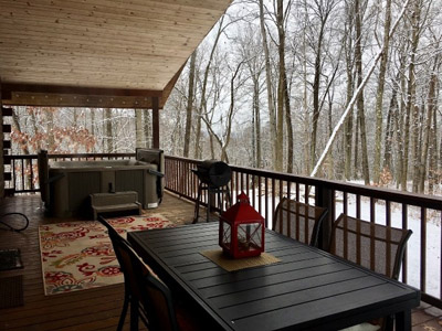 Deck and Hot Tub  - Outdoor Seating, Grill and Hot Tub
