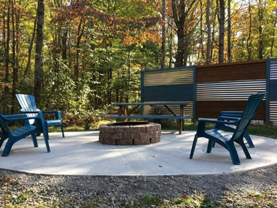 Fire Pit  - Seating for the Fire Pit Area and Wood available with purchase.