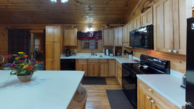 Main Kitchen - Fully equipped and furnished.
